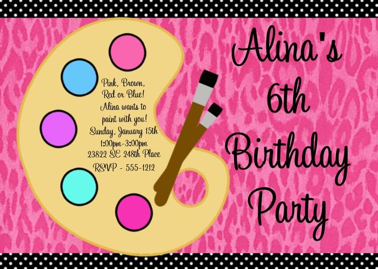 Printable Invitations Birthday Party