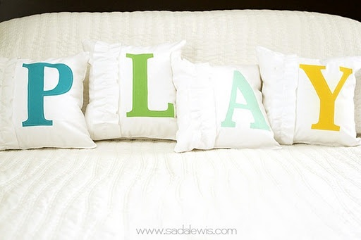Cute idea for a kids' room or play area