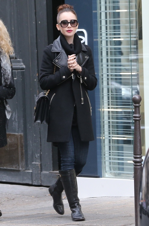 Lilly Collins. Love her style