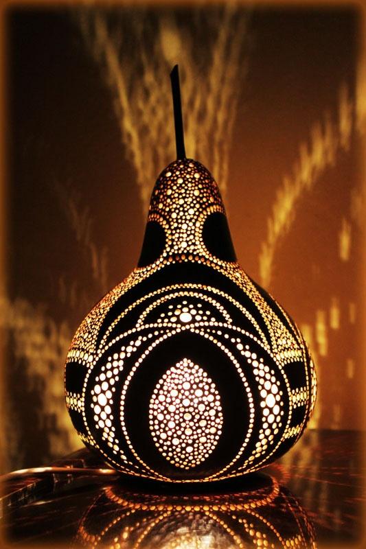 seszenowe tykwy...Lamp
