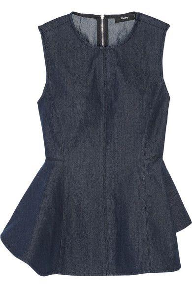 Dark-blue denim Concealed zip fastening through back 75% cotton, 24% polyester, 1% elastane Machine wash