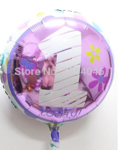 1er anniversaire nouveaux enfants bébé ballons feuille ballons d'hélium fête d'anniversaire décoration jouets classiques ballon brinquedos inflaveis(China (Mainland))