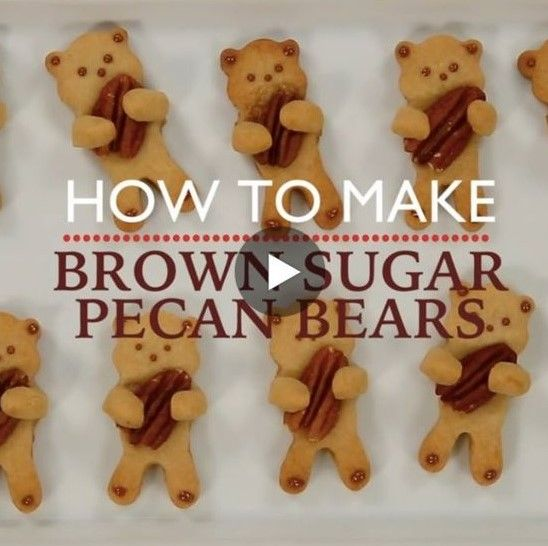Brown Sugar Pecan Bear Cookies