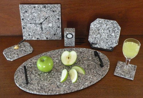 Our friend Peter Perez of the Deer Isle Granite Company provides us with granite pieces for our cheese plates, coasters for our drinks and beautiful vases for our tables.