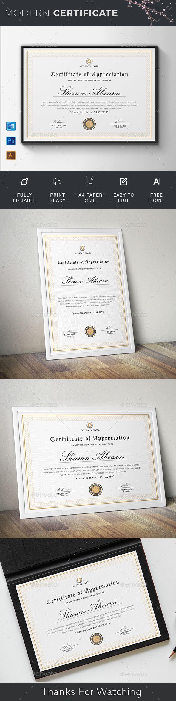 Certificate Certificate Of Appreciation Certificate Templates Certificate Where to buy award certificates