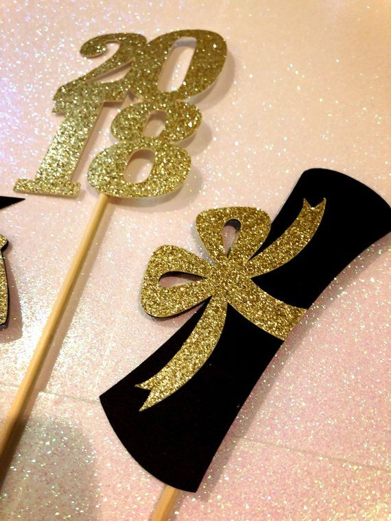 Graduation Centerpiece Sticks 2018, Graduation Party, Party Decor, Graduation Decorations, Graduation, Class of 2018, Party