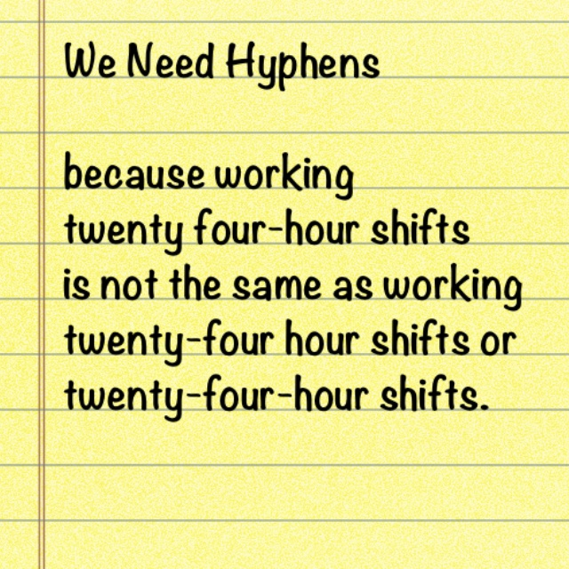 Writing numbers hyphen