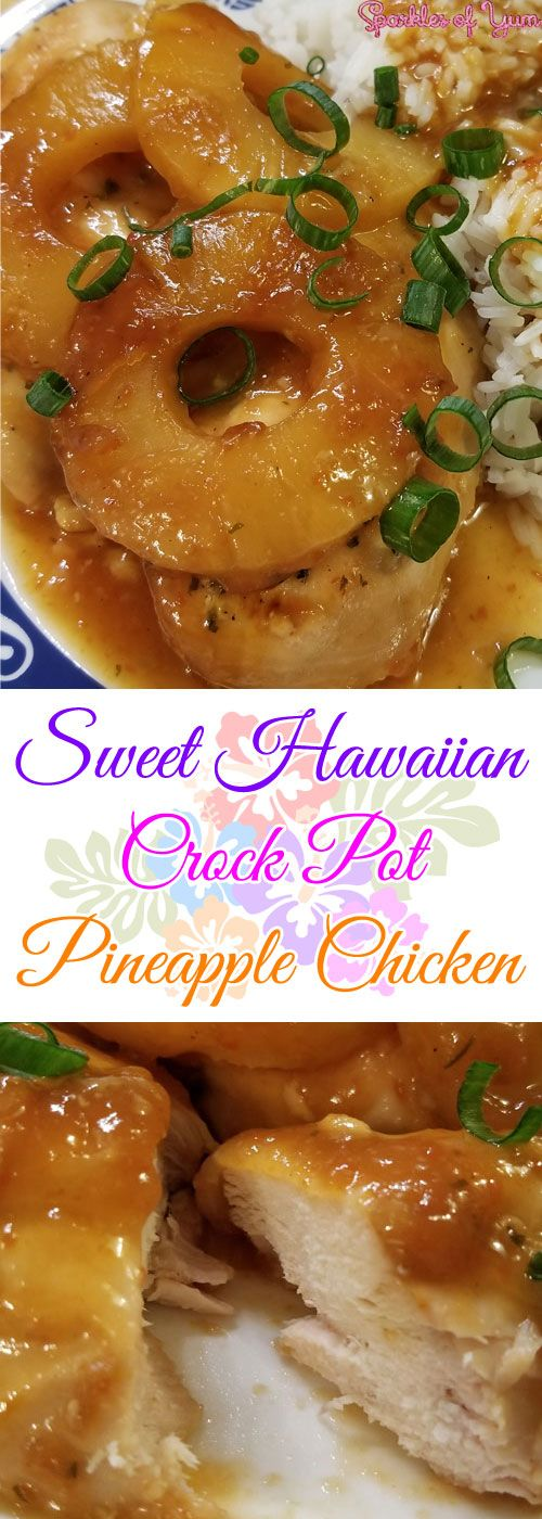 Talk about yum! This Sweet Hawaiian Crock Pot Pineapple Chickenhits all the taste buds just right. Sweet, tangy, juicy! Perfect for a hot summer day.