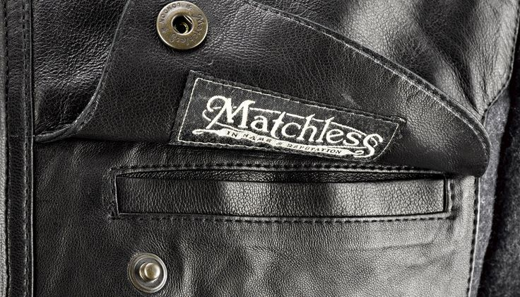 Matchless London Brooklands Blouson jacket - pocket detail on the wool and leather waterproof jacket