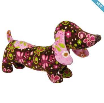 Pizzazz Flutter Daschund from Mary Meyer  Available now at Bobangles.  #MaryMeyer #plush #toy #kids #cute #Australia #daschund #dog #puppy