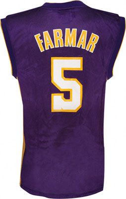 Los Angeles Lakers Jordan Farmar 5 Purple Authentic Jersey Sale
