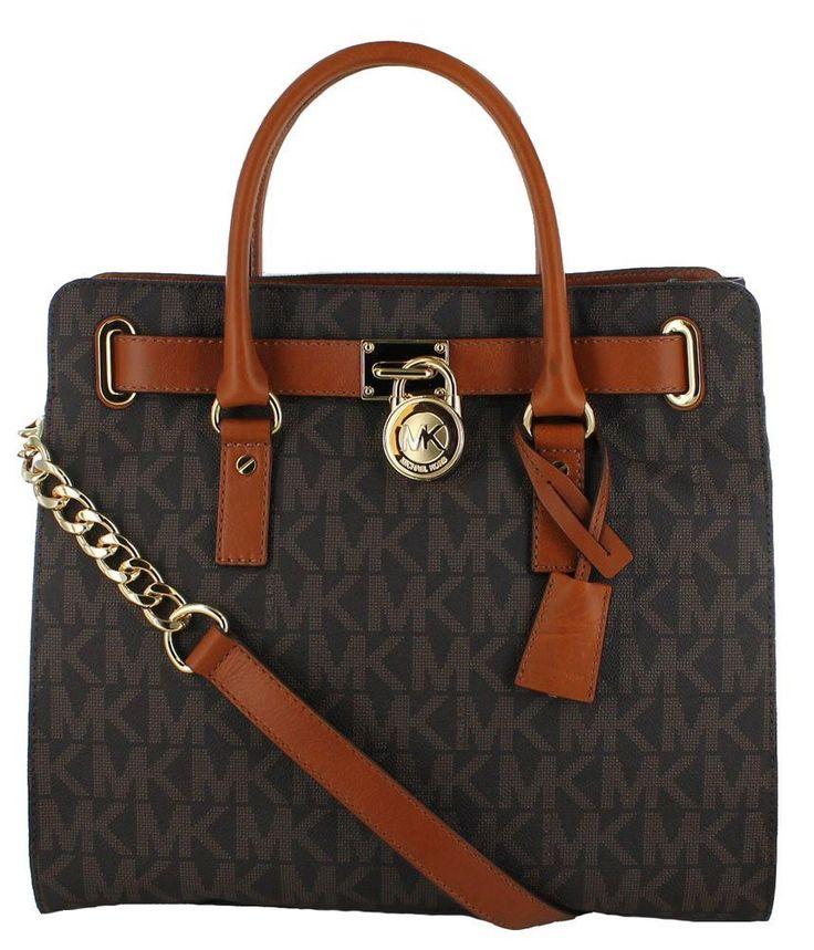 Michael Kors Hamilton Saffiano Tote Women\u0027s Handbag Black/Silver: Handbags:  Amazon.com