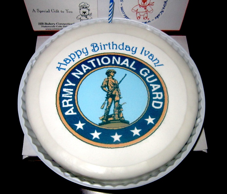 National Guard Cake. Military cake, Send birthday cake