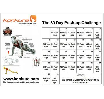 The 30 Day Push-up Challenge at http://www.konkura.com/challenge/?sub=1&uid=3a31e200-d259-4912-baae-574b5501b50f