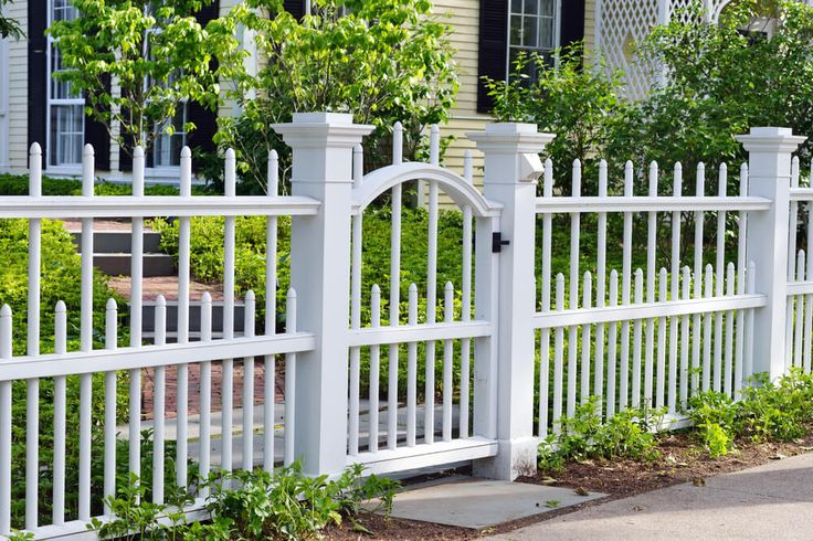 The ultimate guide to fence designs and fencing material. Fence types: wrought iron gates, wood, security, split rail, vinyl, dog, electric fence ideas
