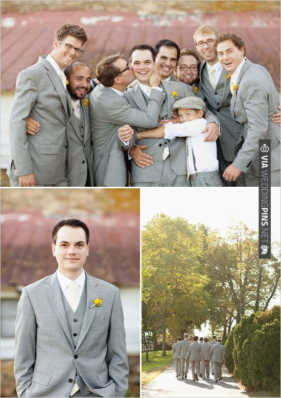 gray groomsman suits. these guys look good! | CHECK OUT MORE IDEAS AT WEDDINGPINS.NET | #bridesmaids