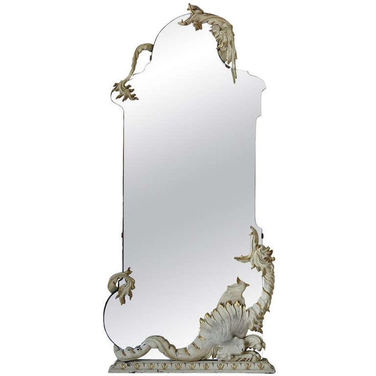 Mirror with Dragons, Italy, 1940s | From a unique collection of antique and modern wall mirrors at https://www.1stdibs.com/furniture/mirrors/wall-mirrors/