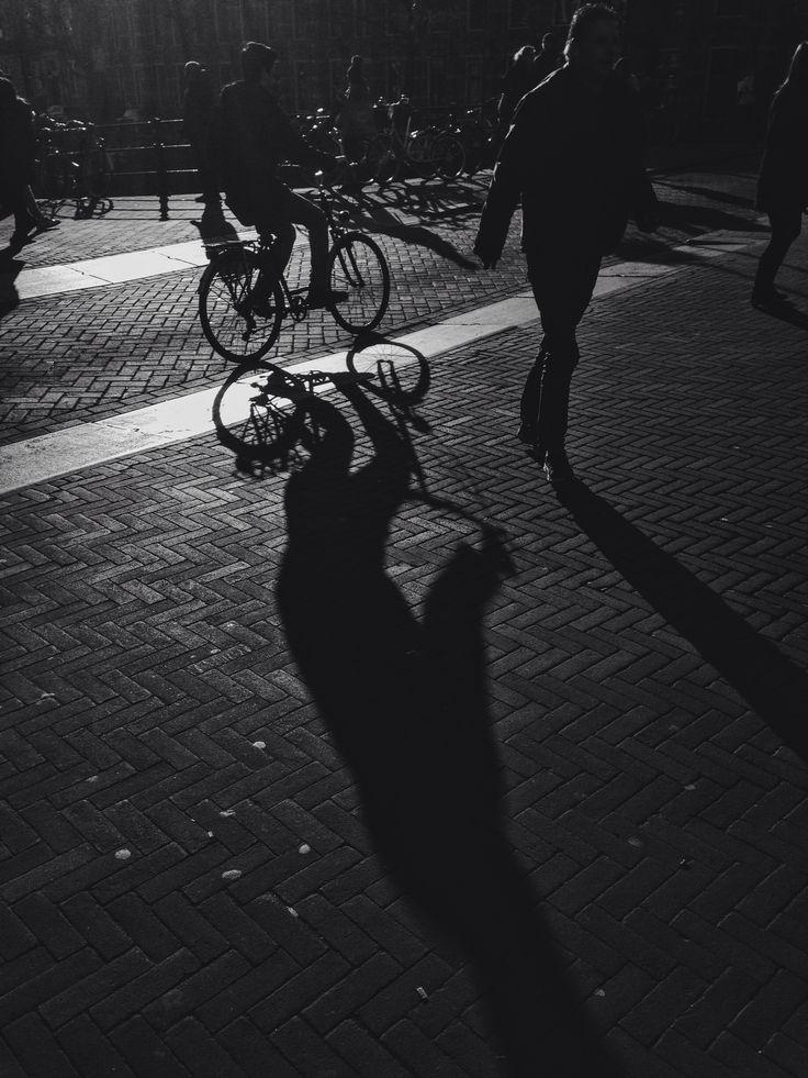 Shadows #bike #amsterdam #cycling #bw #shadows #street #travel