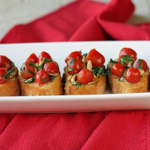 Итальянская закуска - брускетта