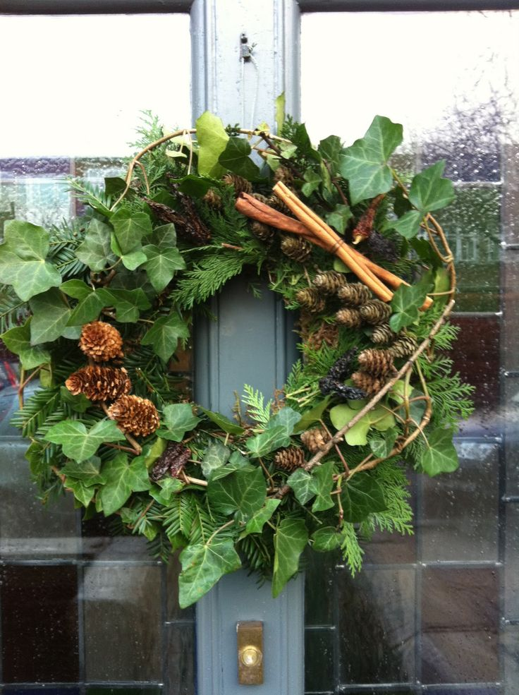 Foliage wreath - such a welcoming sign - so is a scented house http://www.aroma-works.com/nurture-candles-30cl