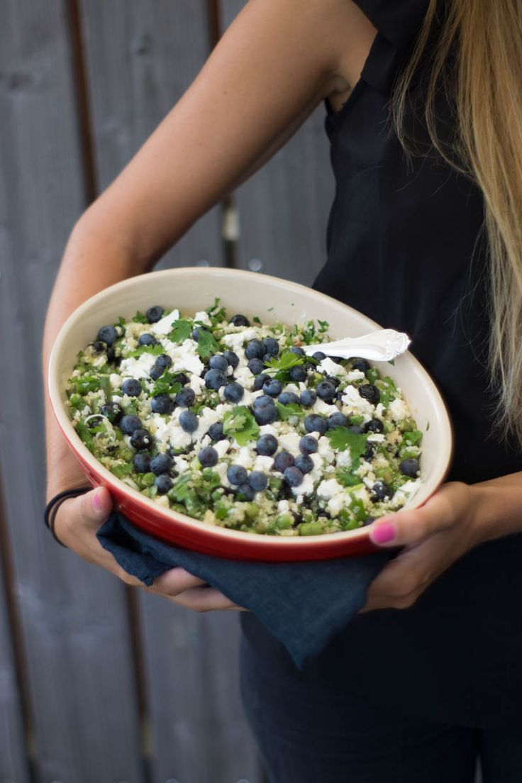 quinoa salad with feta and blueberries