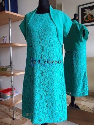 #abito in #pizzo verde acqua - 123ricreo
