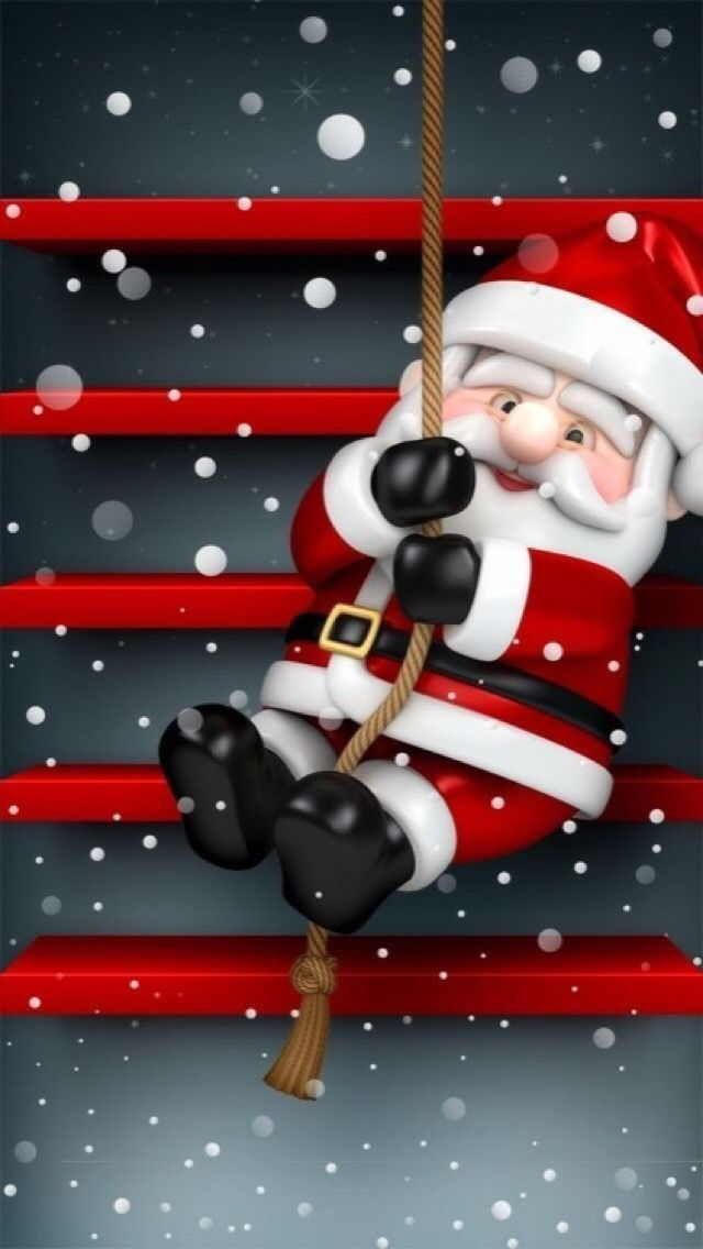 Santa Wallpaper Christmas Pictures Time Merry Paper Iphone Wallpapers