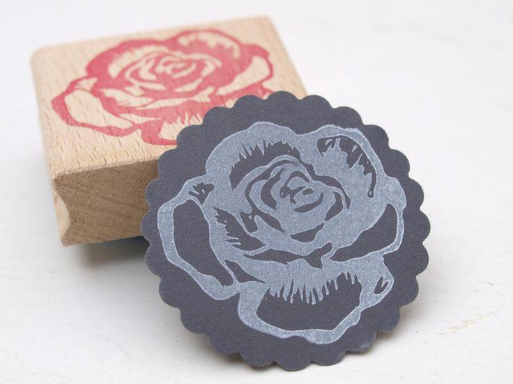 handgeschnitzter+Stempel+I+Rose+von+STAMPelART®+auf+DaWanda.com
