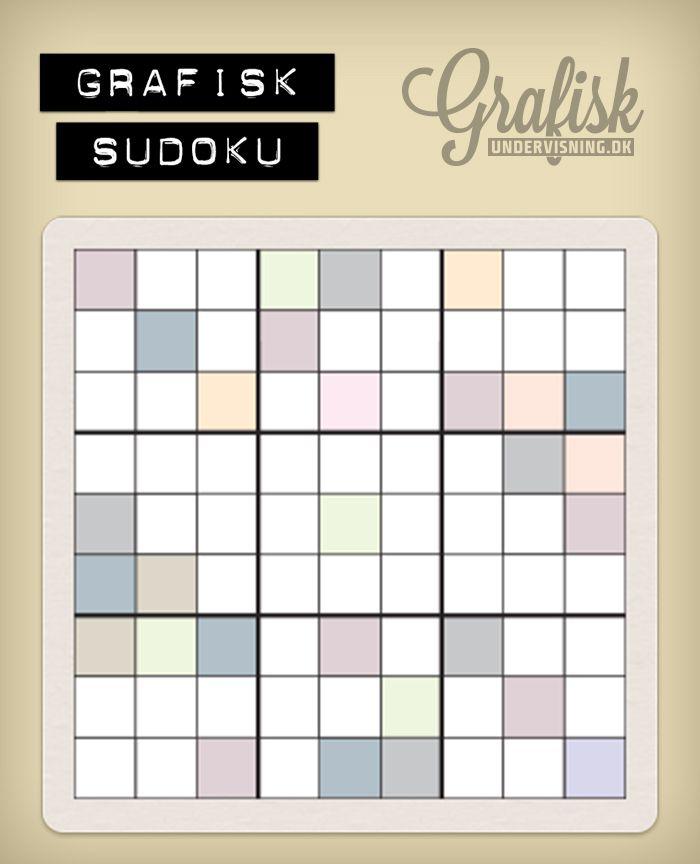 Vil du lege med? Så download, print og/leg med i Illustrator >Swatches >Color Properties > light. Hent alle 9 sudokus og løsningerne på http://www.grafiskundervisning.dk/grafisk-sudoku-su-ku-du-laere-det/ #grafiskundervisning.dk