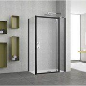 Paroi latérale associée à une porte Elyt, profilé noir, l.31 cm