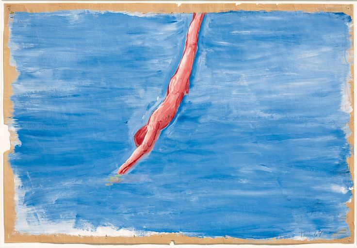 Paul Thek, Untitled (Diver), 1969-1970, Synthetic polymer and gesso