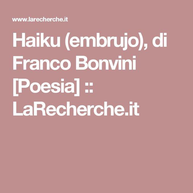 Haiku (embrujo), di Franco Bonvini [Poesia] ::   LaRecherche.it