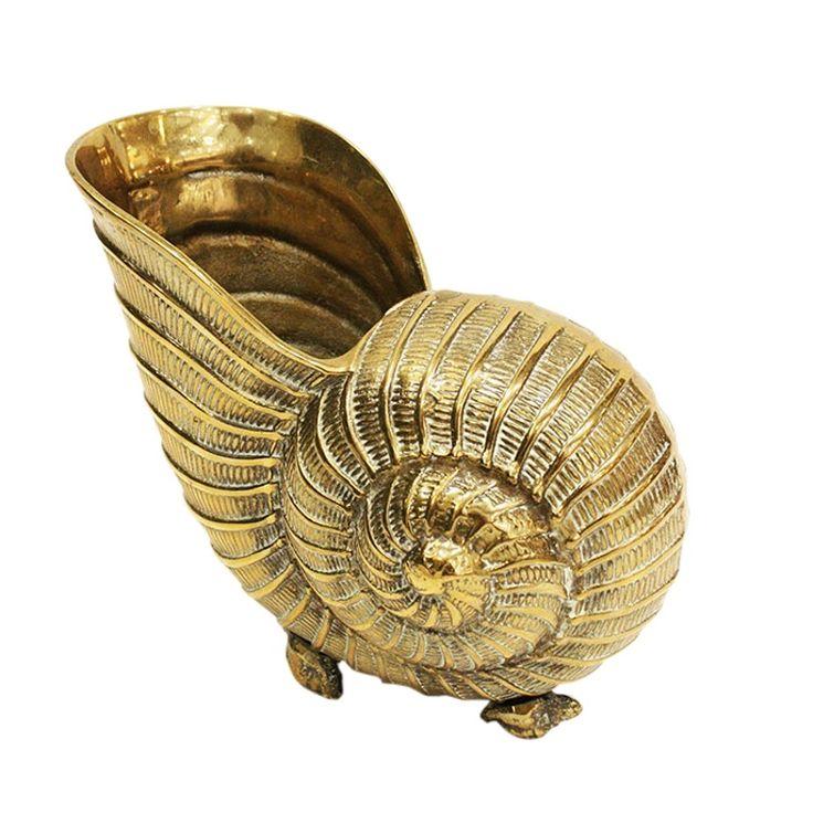 Jh 095  Metal Cornucopia   Traditional, Metal, Decorative Object by Jamie…