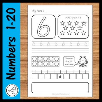 Four sets of activity sheets for numbers 1-20. These are great for differentiating the learning in your classroom. Please click on the PREVIEW button above to see an example of all 4 sets of worksheets. The font used is 'NZ Basic Script'.