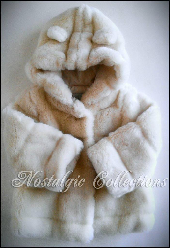 Gorgeous Baby Gap Girls Fur Coat 12 18 Months White Faux