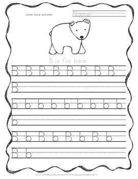 handwriting practice handwriting and animal alphabet on pinterest. Black Bedroom Furniture Sets. Home Design Ideas