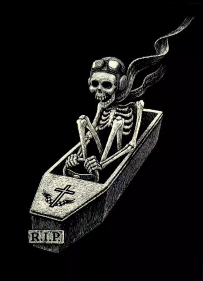 Картинки с гробом и скелетом