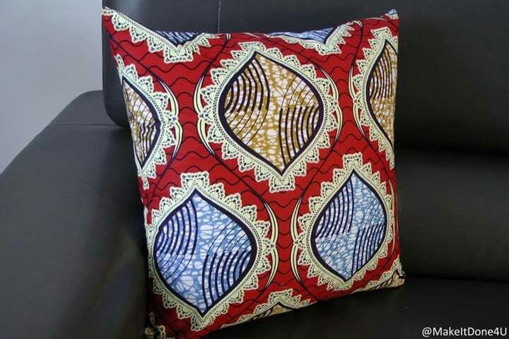 """Ankara, waxprint cushion cover 20"""" x 20"""""""