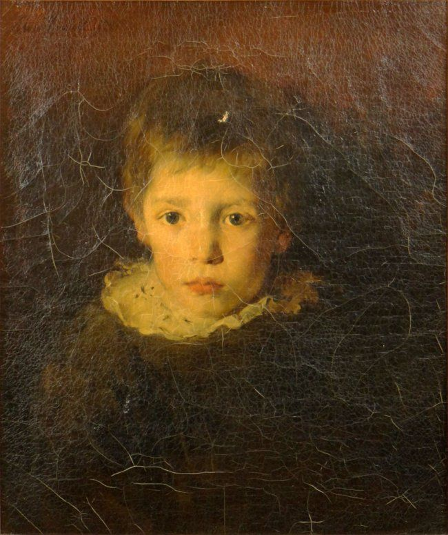 Alois Erdtelt, German (1851-1911), Portrait of a Young Boy, Signed and Dated Alois Erdetelt 1879, Oil on Canvas