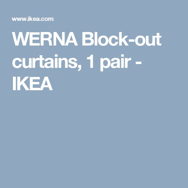 WERNA Block-out curtains, 1 pair   - IKEA