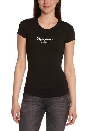 Femme Manches courtes - Pepe Jeans New Virginia - T-shirt - Uni - Manches courtes - Femme (Black)