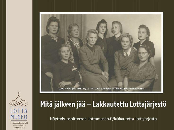 Lottajärjestö lakkautettiin 23.11.1944. Mitä jäi jäljelle?  #lottasvärd#lottamuseo