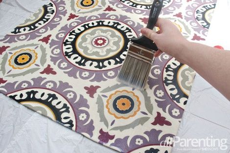 Make a fabric rug out of any fabric you like...this is amazing! I had no idea you could do this!
