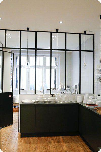 Décoration industrielle cuisine verrière