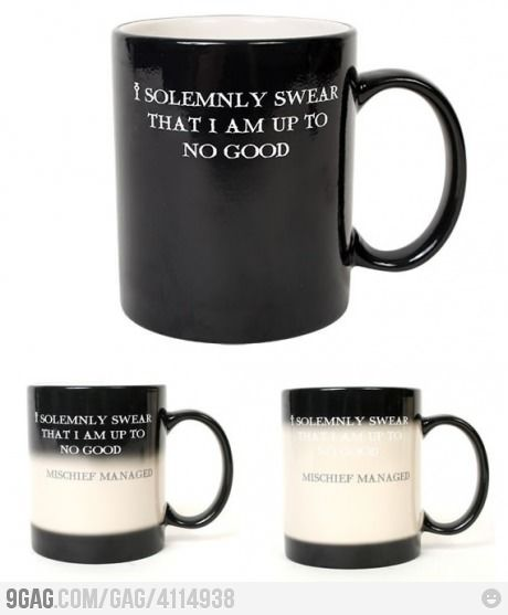 Mischief Managed: Cup, Gift, Solemnly Swear, Mischief Managed, Harrypotter, Marauder, Things, Coffee Mugs, Harry Potter Mugs