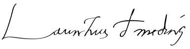 Lorenzo de' Medici's signature :)