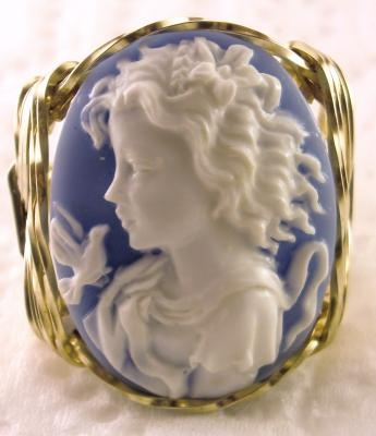 Grecian Goddess Dove Cameo Ring | The House of Beccaria#