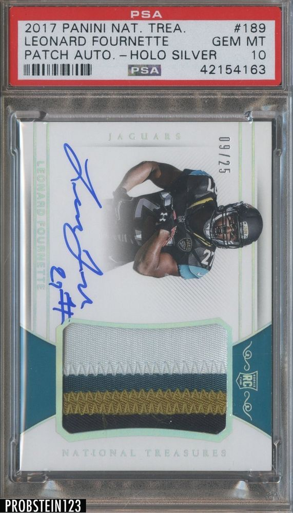 2017 National Treasures Silver Leonard Fournette Rpa Rc Patch Auto 25 Psa 10 Psa10 Sportscards Collecting National Treasure Ebay 10 Things