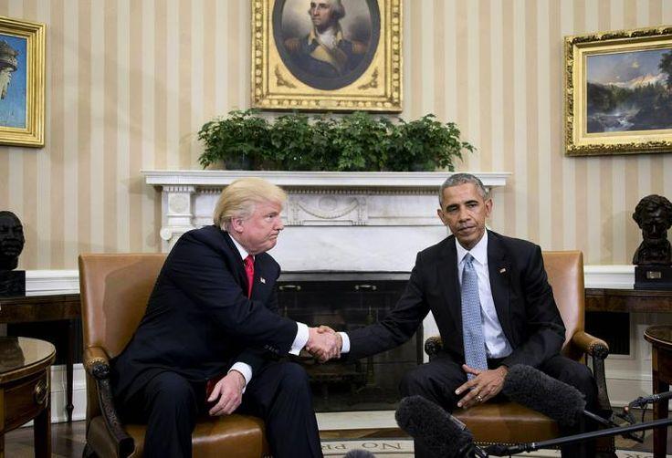 Historischer Handschlag: US-Präsident Barack Obama hat zum ersten Mal seinen Nachfolger Donald Trump im Weißen Haus empfangen. Er hatte Trump eingeladen, um nach eigenen Angaben ein Zeichen für eine friedliche Übergabe der Macht zu setzen. Mehr Bilder des Tages auf: http://www.nachrichten.at/nachrichten/bilder_des_tages/ (Bild: AFP)