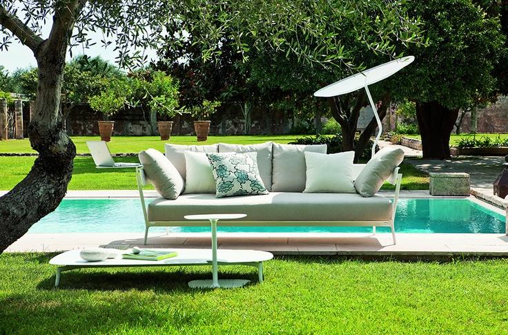Basic Collection, Aikana #sofa #outdoors #design #furniture #pool #garden #upholstery #cushion